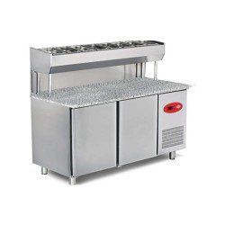 Empero EMP.150.80.01-PSYG Pizza ve Salata Hazırlık Buzdolabı-Granit tablalı-2 Kapılı