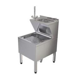 Paspas Yıkama Evyesi - 50x60x90 cm - sabun dispenserli